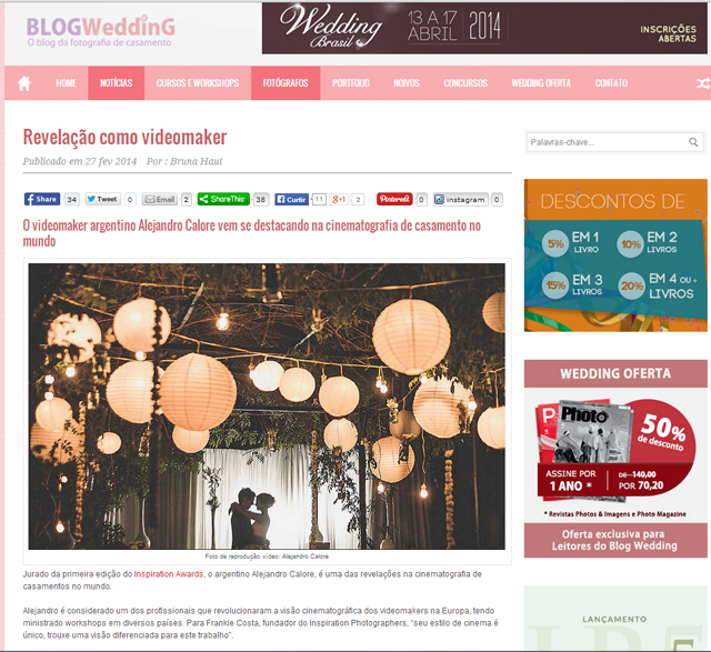 Alejandro Calore (REAL&SHORT) interview by Blog Weddings
